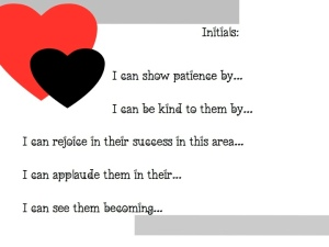 Love is… worksheet 1