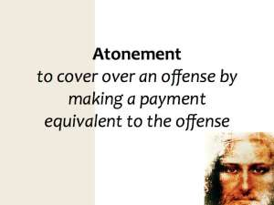 Jesus is our atonement