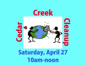 Cedar Creek cleanup 2013