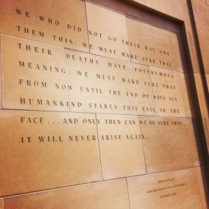 Reagan quote at Holocaust Museum