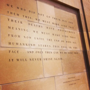 Reagan quote at Holocaust Museum