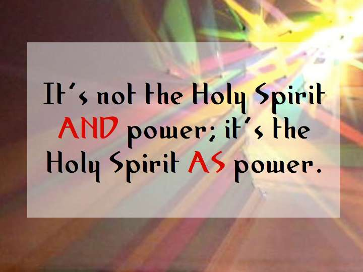 The Holy Spirit's Power Craig T Owens Beauteous Quotes About The Holy Spirit