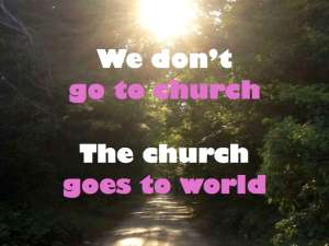The church goes