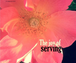 The joy of serving