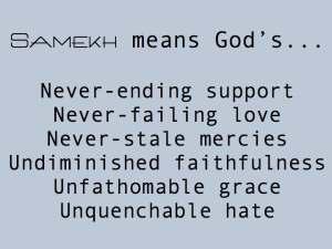 Samekh means...