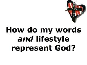Representing God's name