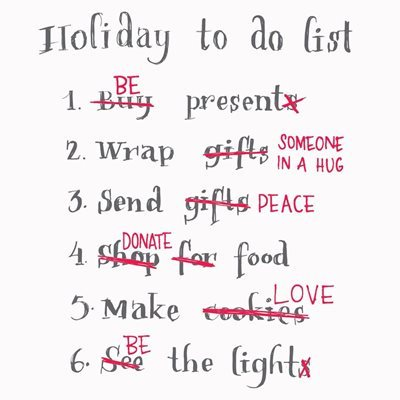 After the holidays To Do list