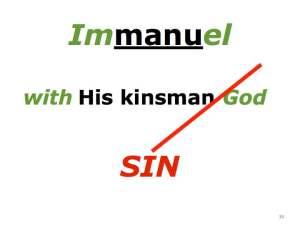 Immanuel & sin