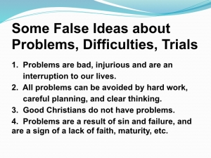 False ideas on problems