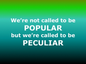 Peculiar not popular