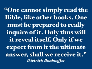 Bonhoeffer - study the Bible