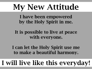 My new attitude