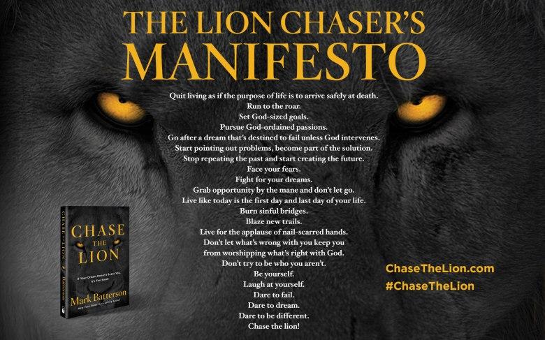 Lion Chaser's Manifesto
